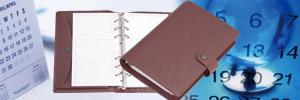 システム手帳(A5)・卓上カレンダー・  オリジナル製品のイメージ
